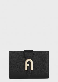 Черное портмоне Furla Sofia Grainy с монетницей, фото
