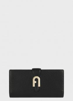 Черный кошелек Furla Sofia Grainy Miss Mimi из зернистой кожи, фото
