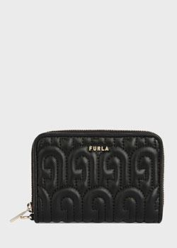 Черный кошелек Furla Nappa Burnis из натуральной кожи, фото