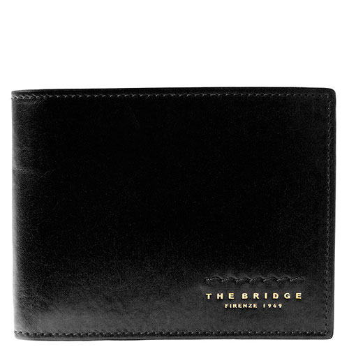 Портмоне мужское с карманом для монет на молнии The Bridge Fitzroy черного цвета, фото