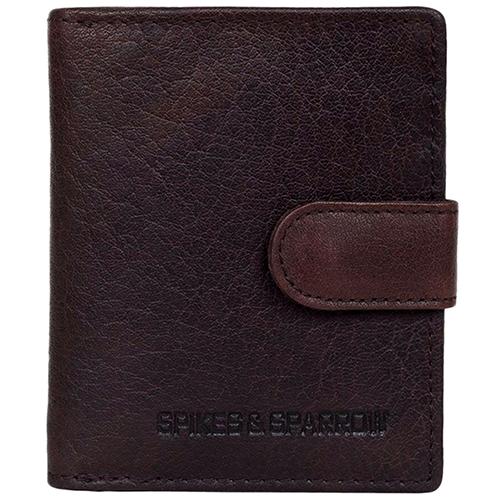 Портмоне Spikes&Sparrow коричневого цвета с наружным карманом, фото