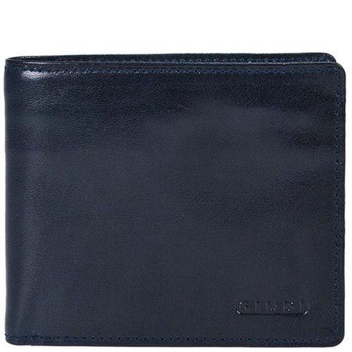 Синее классическое портмоне Giudi Leather из натуральной гладкой кожи, фото