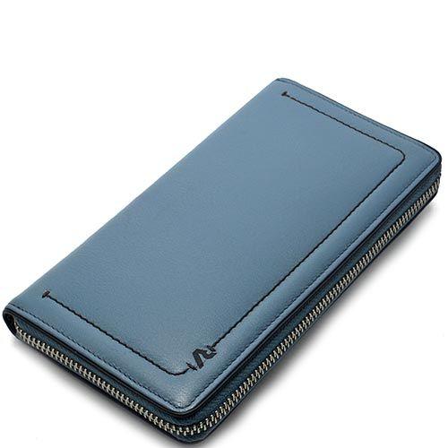 Горизонтальное портмоне Roncato Reale темно-голубого цвета с большим отделением на молнии, фото