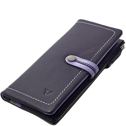 Женское вертикальное портмоне Roncato Candy с внешним карманом-монетницей фиолетового цвета, фото