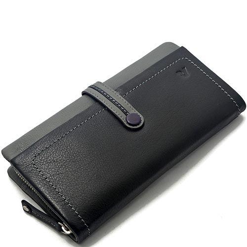 Горизонтальное портмоне Roncato Candy черного цвета на кнопке, фото