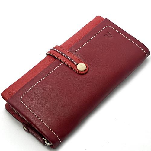 Женское горизонтальное портмоне Roncato Candy на четыре больших отделения красного цвета, фото