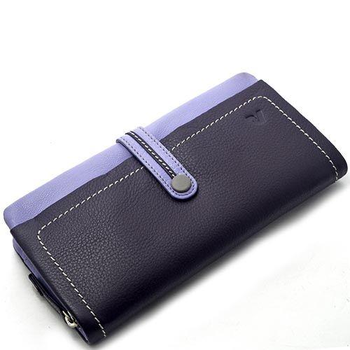 Горизонтальное портмоне Roncato Candy фиолетового цвета на кнопке, фото