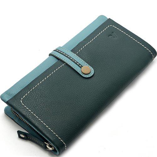 Темно-зеленое портмоне Roncato Candy с карманом-монетницей, фото