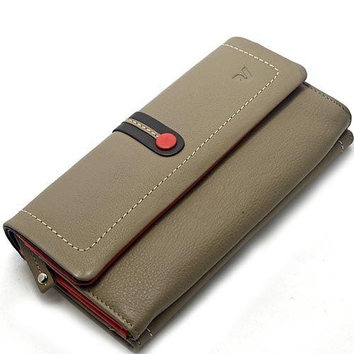 Портмоне Roncato Candy серого цвета с отделениями на кнопке и с клапаном, фото