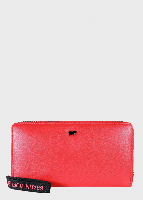 Красный кошелек Braun Bueffel Capri на молнии, фото