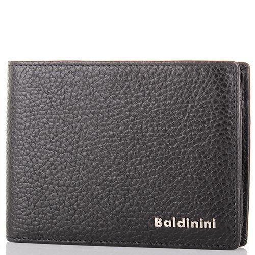 Портмоне Baldinini черного цвета среднего размера из крупнозернистой кожи, фото