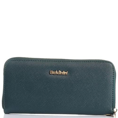 Зеленый кошелек Baldinini с тиснением сафьяно, фото