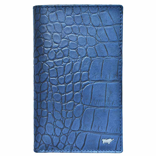 Портмоне Braun Büffel Lisboa синего цвета с внутренним карманом на молнии, фото