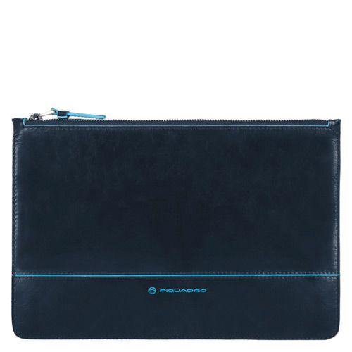 Портмоне-чехол на молнии Piquadro для документов Blue Square темно-синий, фото