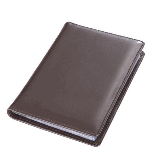 Визитница Avanzo Daziaro Business Linea настольная коричневая на 168 визиток, фото