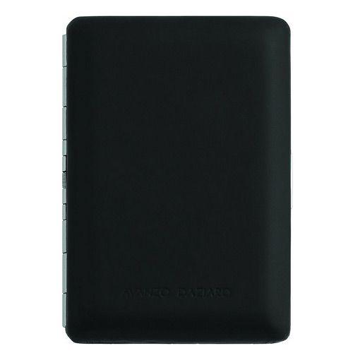 Футляр Avanzo Daziaro в черной коже для своих визитных карт, фото