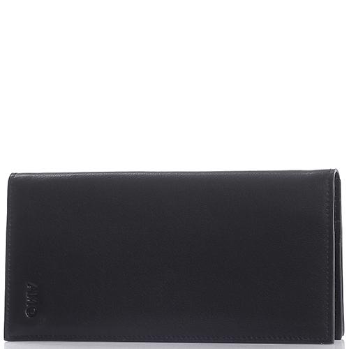 Портмоне черного цвета Amo Accessori Verona из гладкой кожи, фото