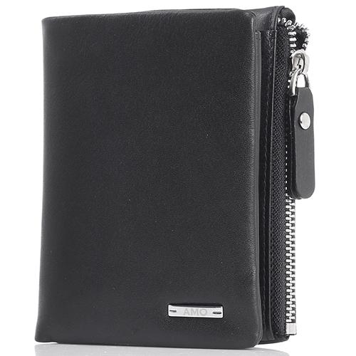 Портмоне вертикальное Amo Accessori черного цвета, фото