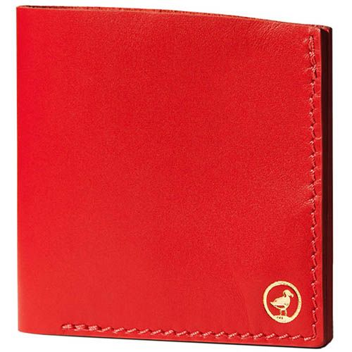 Портмоне Moreca Bifold на кнопках красного цвета, фото