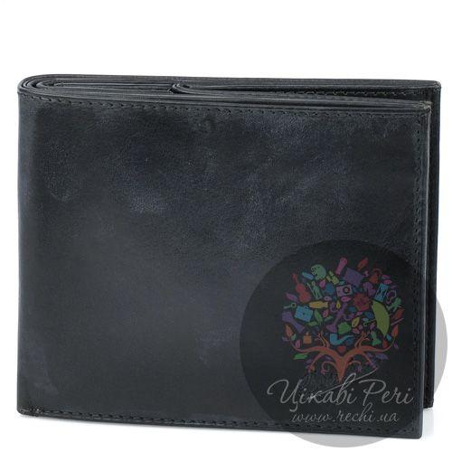 Портмоне Borsalino горизонтальное черное с необычной монетницей, фото