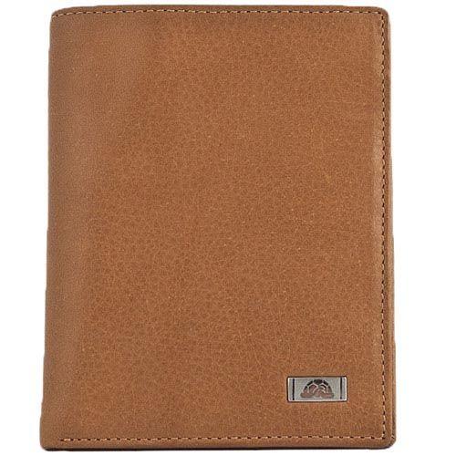 Вертикальное портмоне Tony Perotti Contatto из светлой коричневой кожи, фото