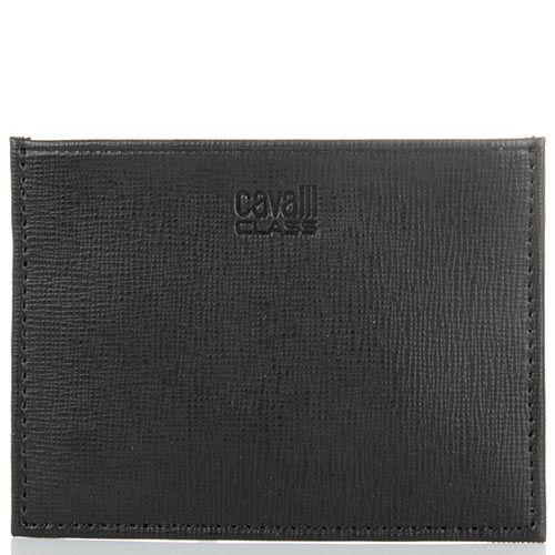 Кардхолдер Cavalli Class Astoria черного цвета с сафьяновой отделкой кожи, фото
