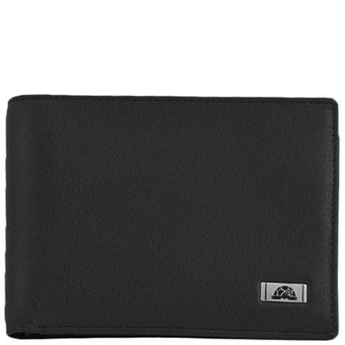 Классический кошелек Tony Perotti Contatto черного цвета из натуральной кожи, фото