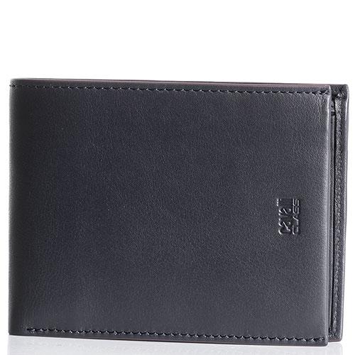Мужское портмоне Cavalli Class Signature Colle из мягкой синей кожи, фото