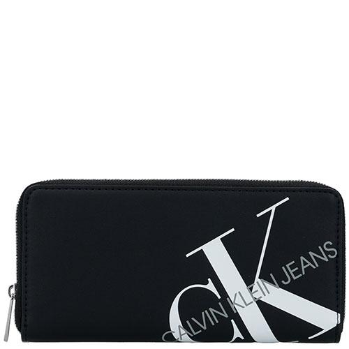 Кошелек черного цвета Calvin Klein с принтом, фото