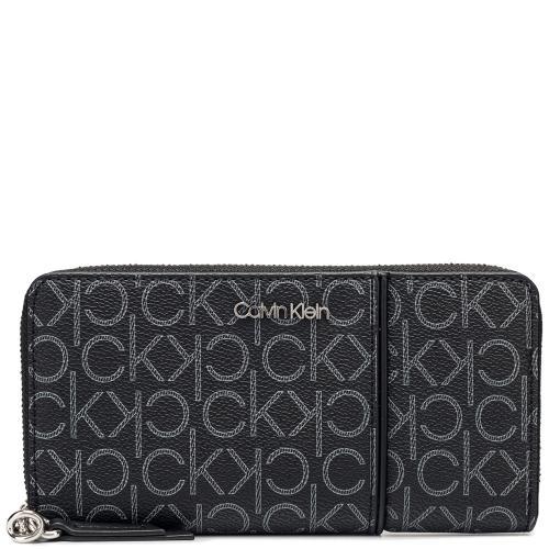Темно-серый кошелек Calvin Klein с брендовым принтом, фото