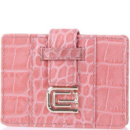 Кардхолдер Cavalli Class кожаный розовый маленький, фото