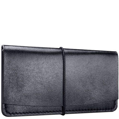 Визитница Moreca Black Card Case из кожи на резинке, фото