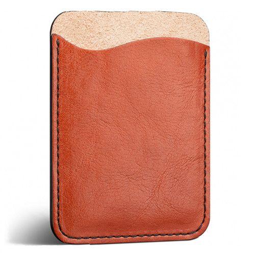 Кардхолдер Moreca оранжево-коричневый для пластиковых карт и купюр, фото