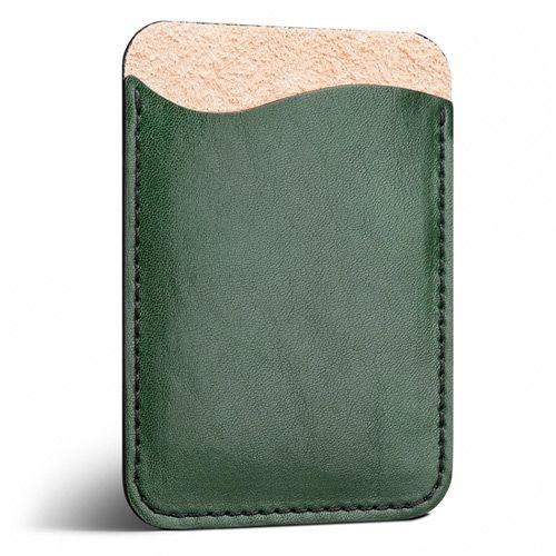 Кожаный изумрудный кардхолдер Moreca для пластиковых карт и купюр, фото