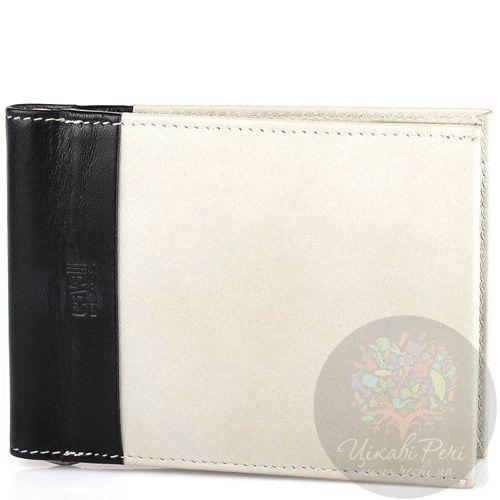 Портмоне Cavalli Class кожаное светло-серое с зажимом для банкнот и 6 слотами для карт, фото