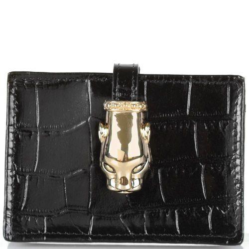 Кардхолдер Cavalli Class Daphne кожаный черный, фото