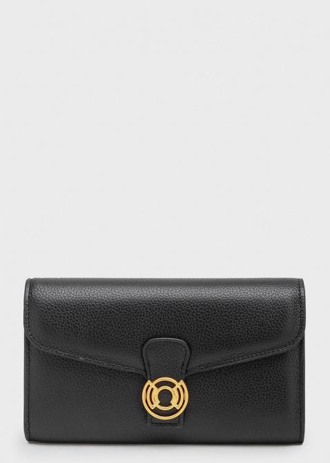Черный кошелек Coccinelle с золотистым декором, фото