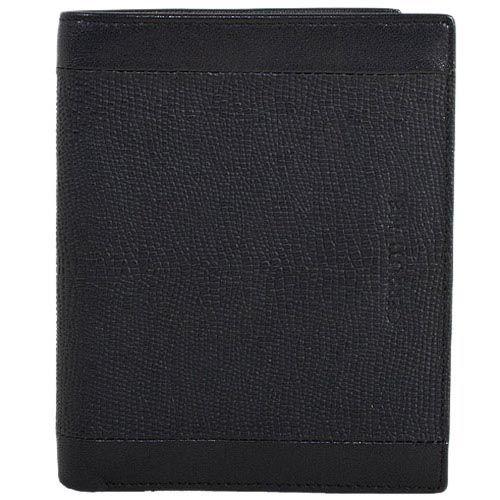 Черное кожаное портмоне Cerruti 1881 с отделкой под варана, фото