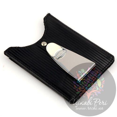 Кредитница-зажим для денег и карт Dalvey Mignon черного цвета, фото