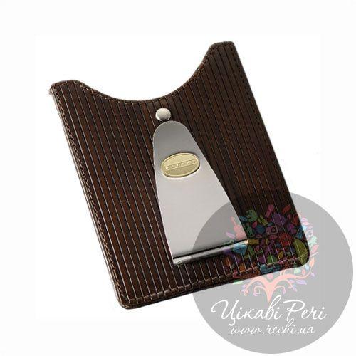 Кредитница-зажим для денег и карт Dalvey коричневого цвета, фото