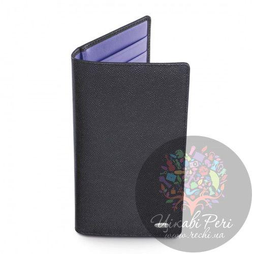 Портмоне Dalvey вертикальное в черном и фиолетовом цвете, фото