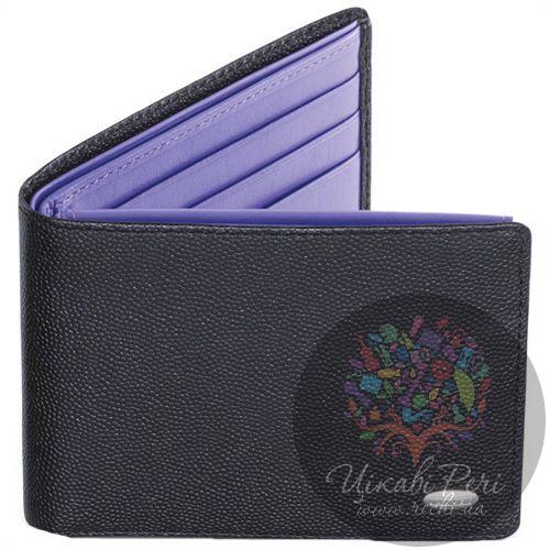 Портмоне Dalvey горизонтальное в черном и фиолетовом цвете, фото