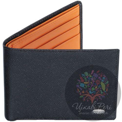 Портмоне Dalvey горизонтальное черно-оранжевое, фото