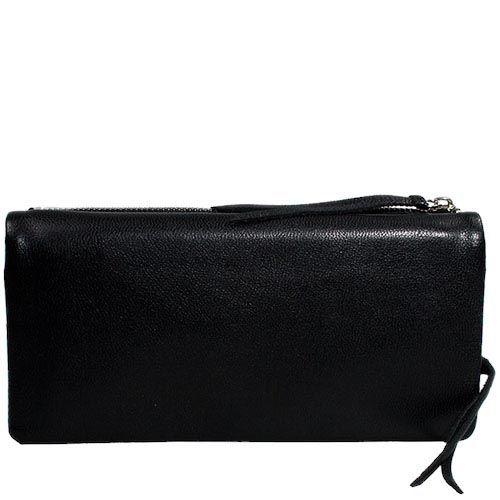 Портмоне-картхолдер Luxon Deckas 3 в 1 из черной кожи, фото