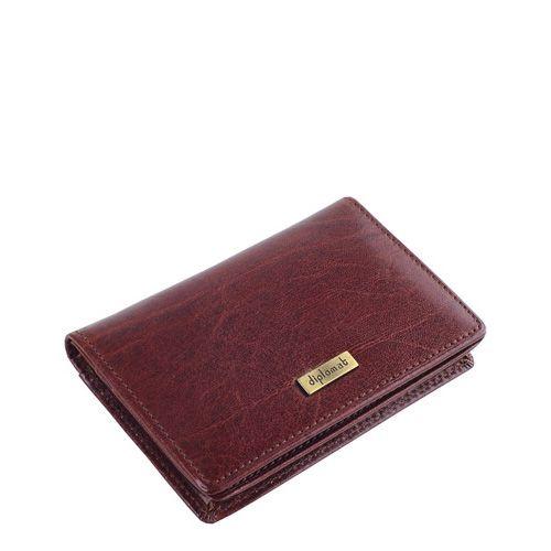 Кредитница Diplomat кожаная бордово-коричневая, фото