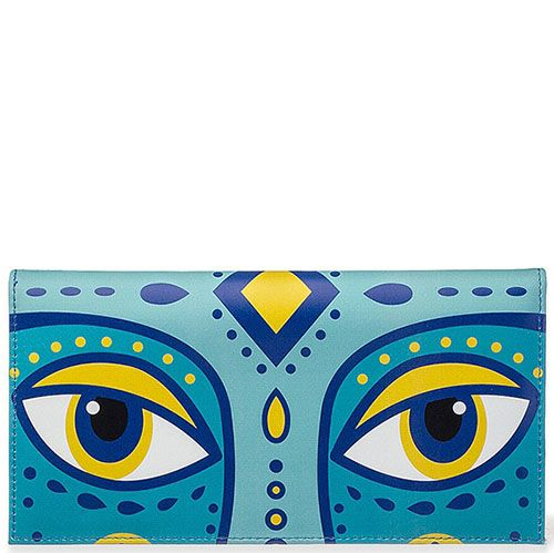Горизонтальное портмоне Диво Сказочный олень из кожи, фото