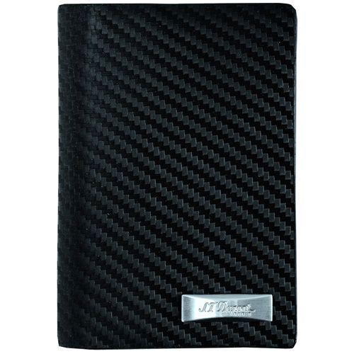Визитница S.T.Dupont Defi Carbon вертикальная черная, фото