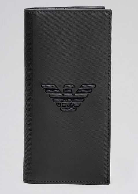 Высокое портмоне Emporio Armani с тиснением в виде логотипа, фото