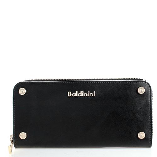 Черный кошелек Baldinini Alice с декором-заклепками, фото
