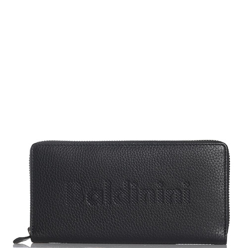 Черный кошелек Baldinini из зернистой кожи на молнии, фото